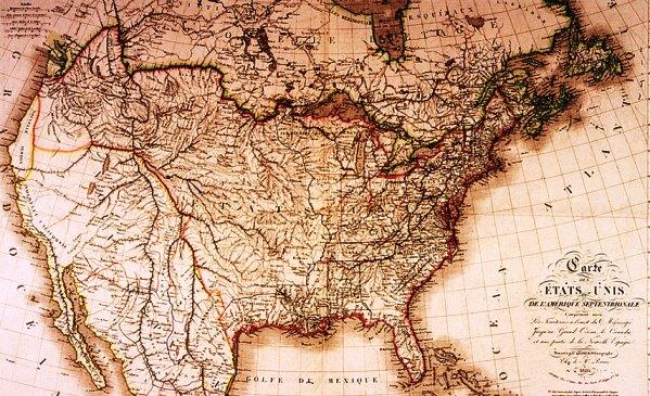 Historia del mapa de los Estados Unidos