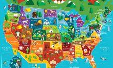 Mapa turístico de Estados Unidos