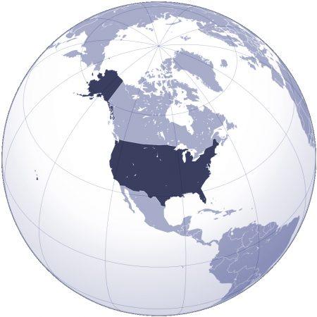 Mapa de ubicación de Estados Unidos