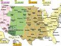 Mapa de zonas horarias de Estados Unidos